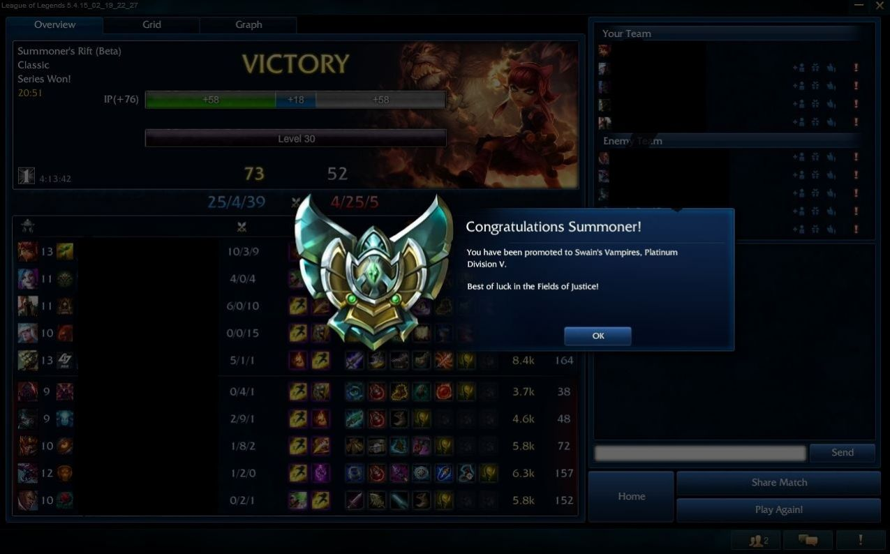 Fast league boost from Gold 5 to Platinum 5 by Xardlin