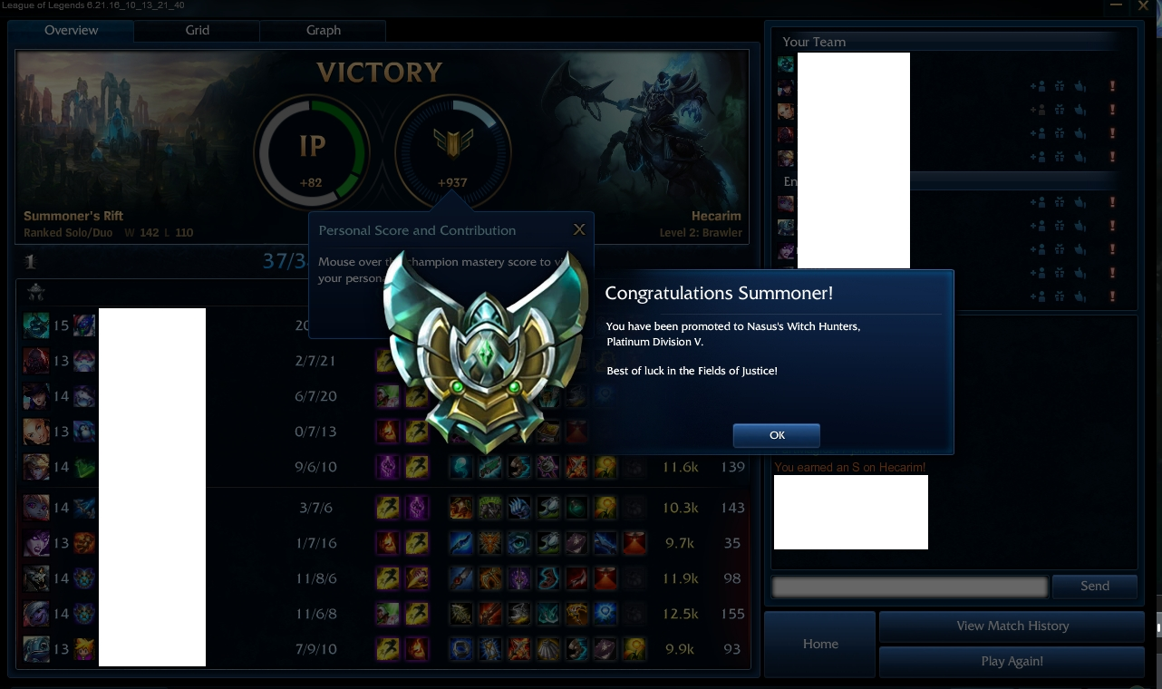 LoL ranked boost from Gold 3 to Platinum 5 by Ryan park