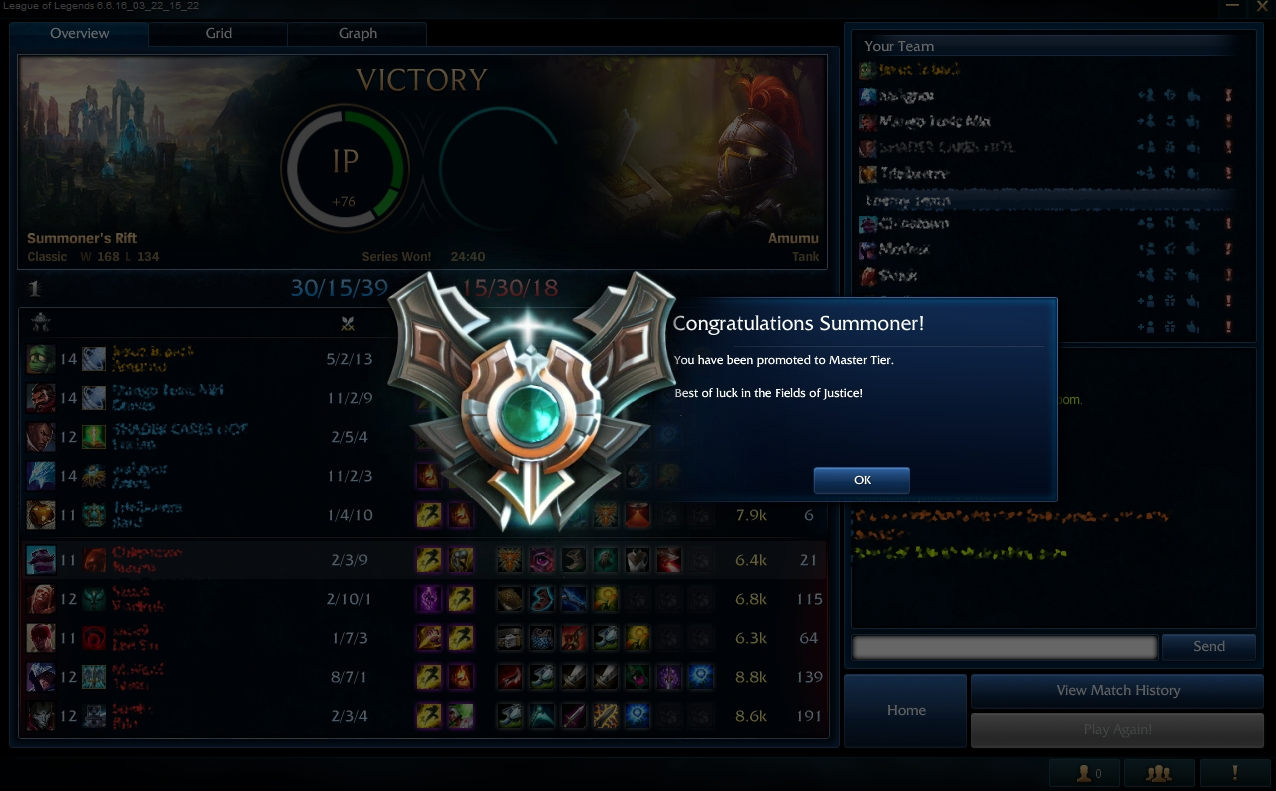from Diamond 3 to Master 1 by Kote