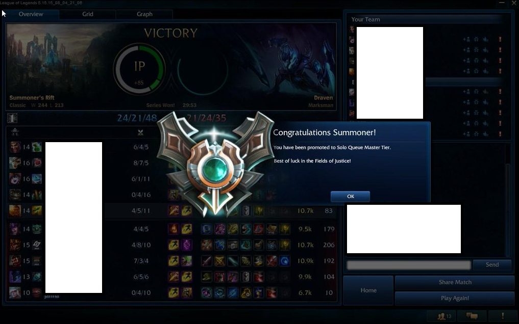 Elo boosting company from Diamond 5 to Master 1 by Caskeey