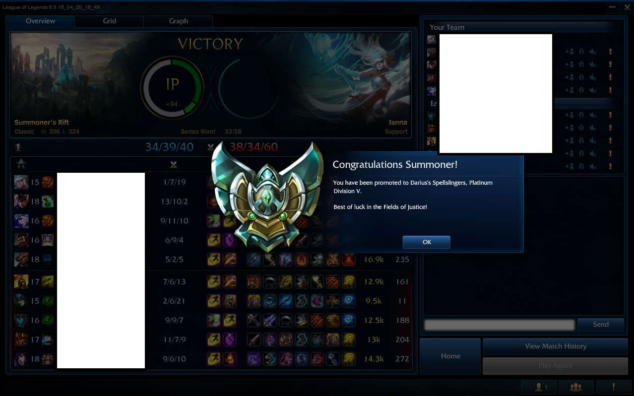 Elo boost lol from Gold 2 to Platinum 5 by Caskeey