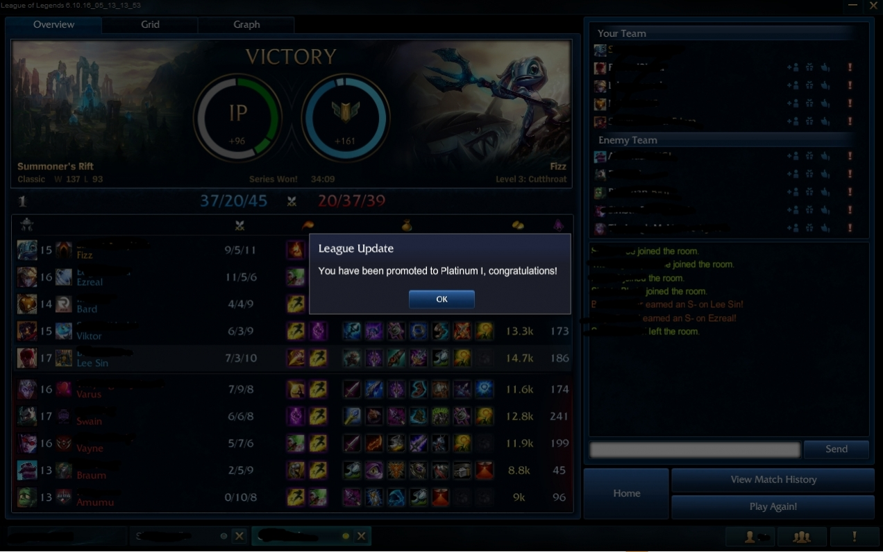 Fast league boost from Platinum 2 to Platinum 1 by Gizerx