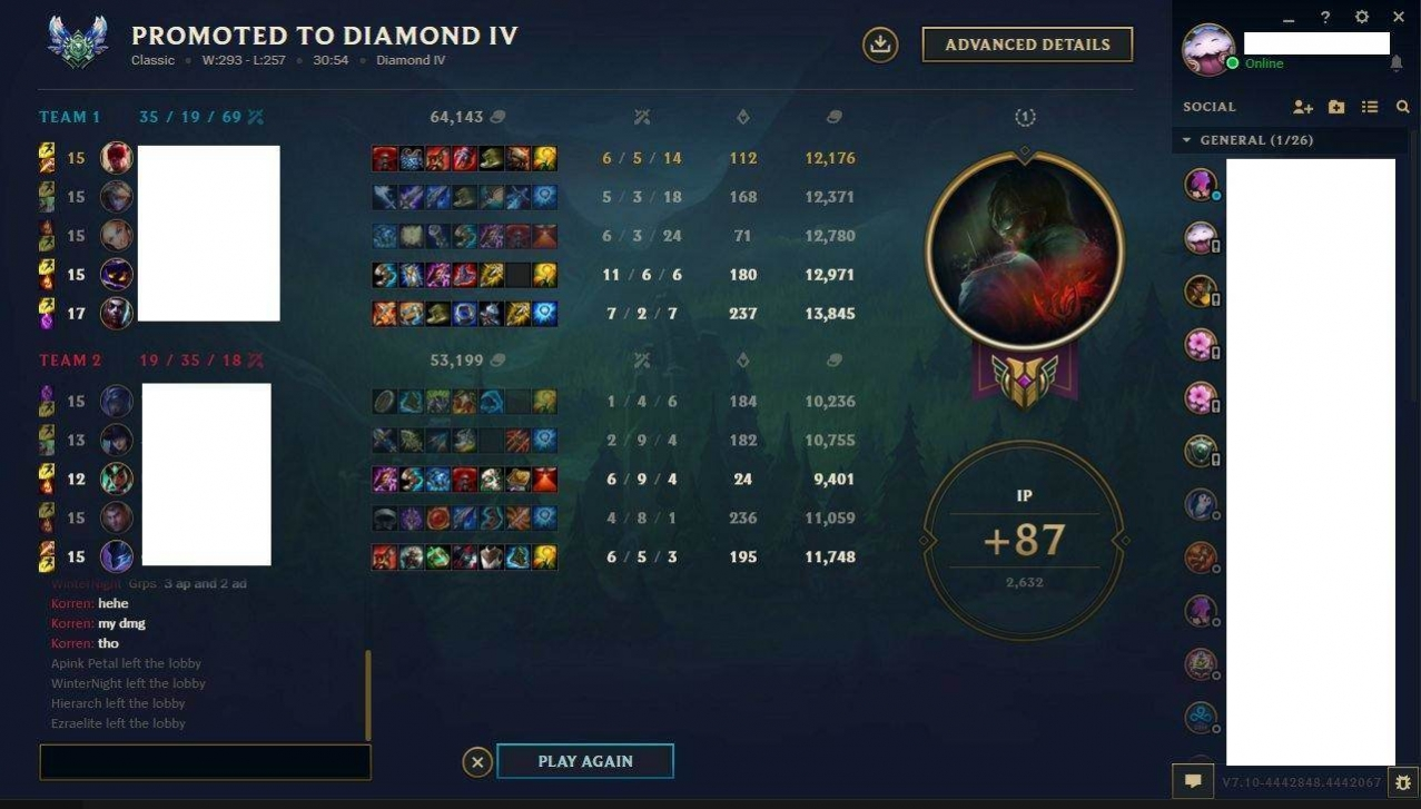 Cheap LoL ELO boost from Diamond 5 to Diamond 4 by Revell