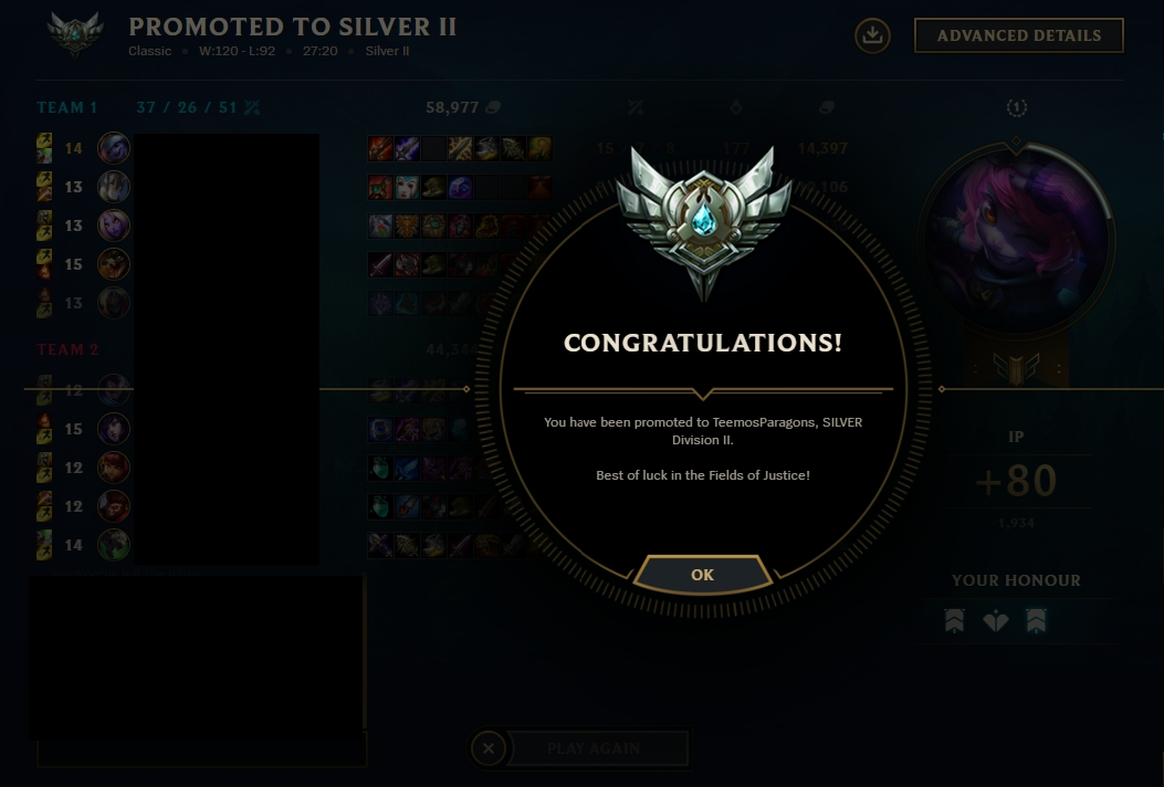 Boosteria fast rank up from Silver 3 to Silver 2 by Dazzdingo