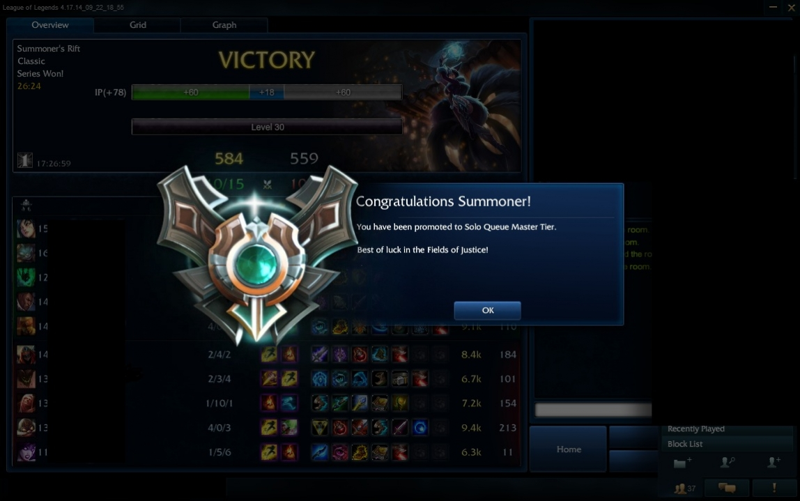 League of Legends fast rank up from Diamond 1 to Master 1 by Master