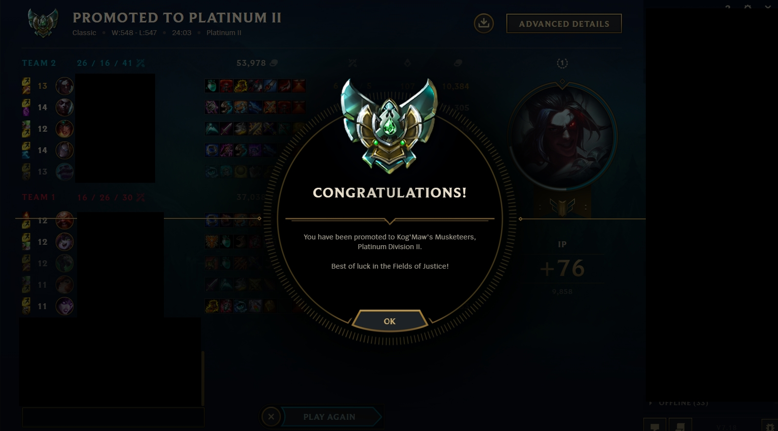cheap lol boosting from Platinum 4 to Platinum 2 by Winxton