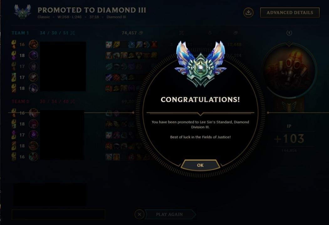 Fast LoL ELO boost from Diamond 5 to Diamond 3 by Hogi