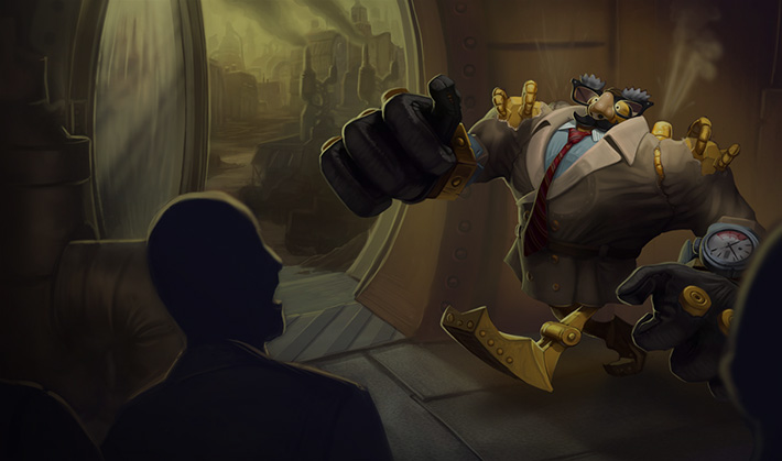 Definitely Not Blitzcrank Splash Art