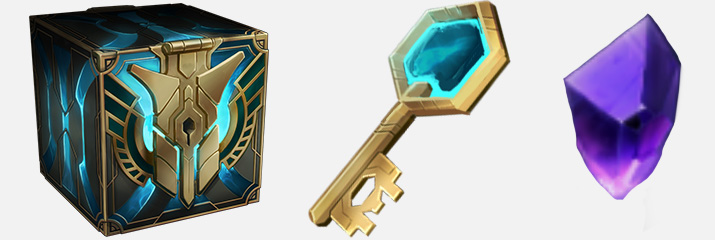 Hextech crafting: mastery chest, key and rare gem
