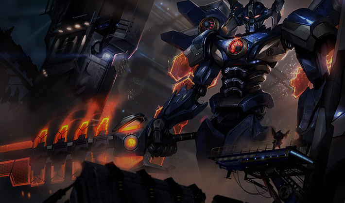 Mecha Aatrox splash art