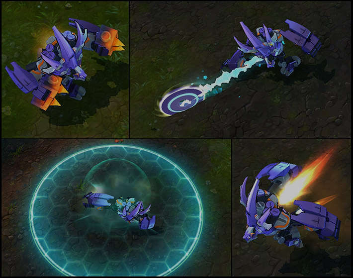 Mecha Malphite animations