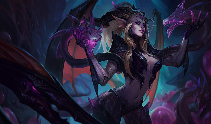 Dragon Sorceress Zyra splashart