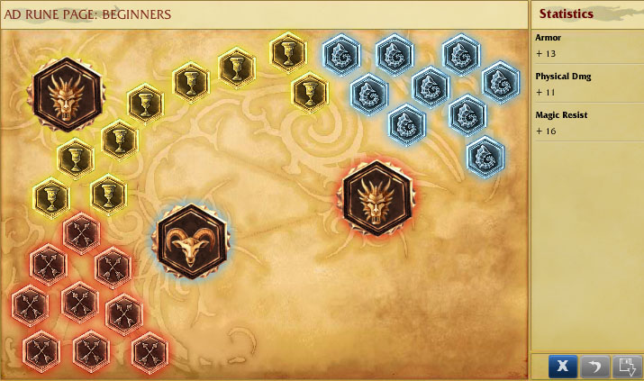 Rune set for beginners: ad champion