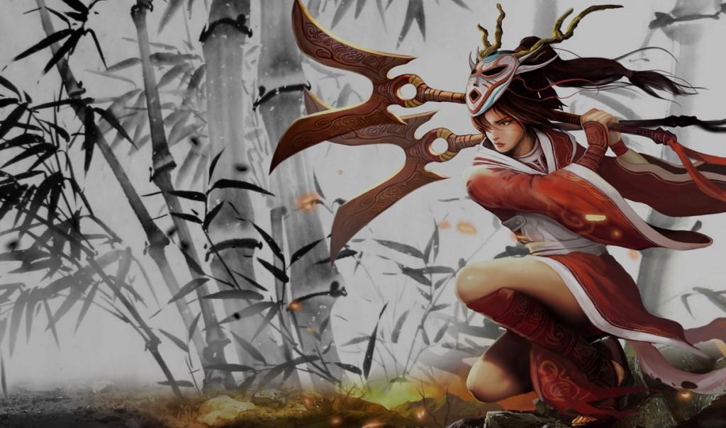 Blood Moon Akali Splash Art
