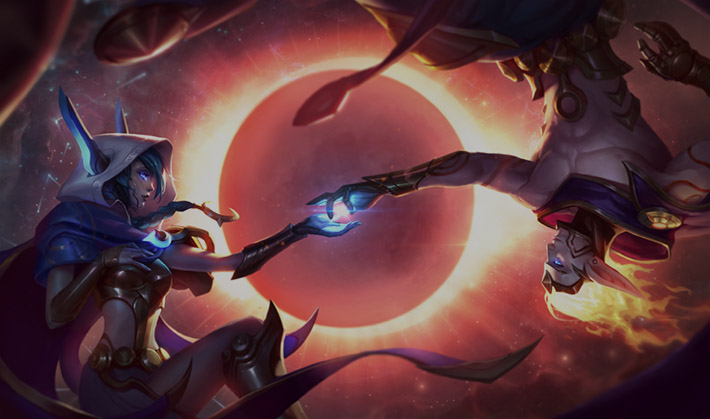 Cosmic Xayah splash art