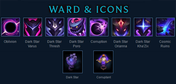 dark star lol skins