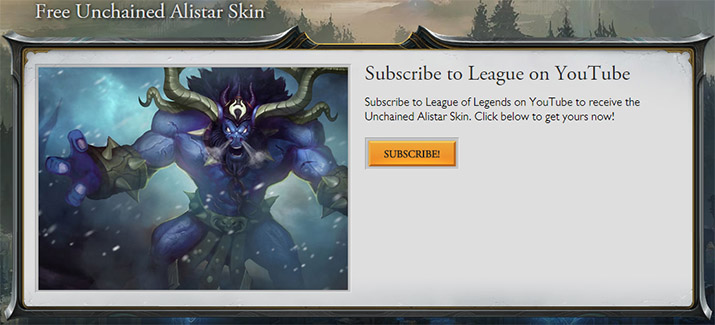how to get alistar skin for free