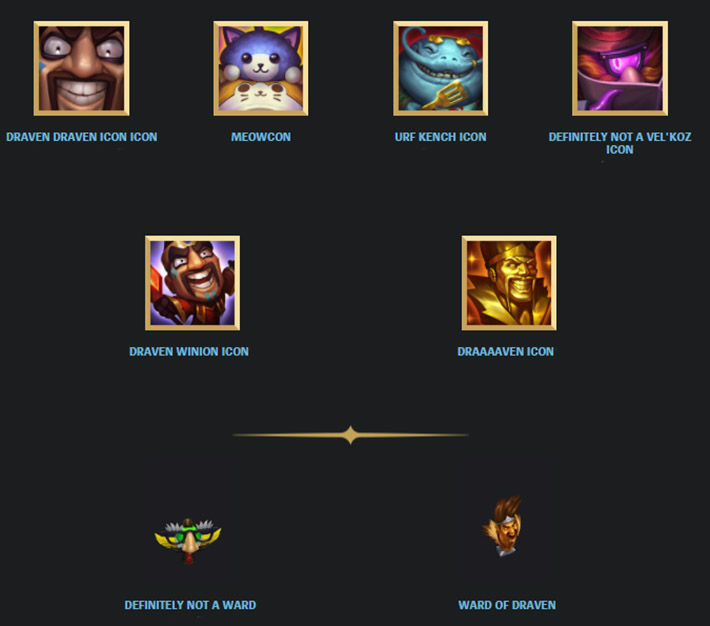 April fools day 2016 league of draven icons