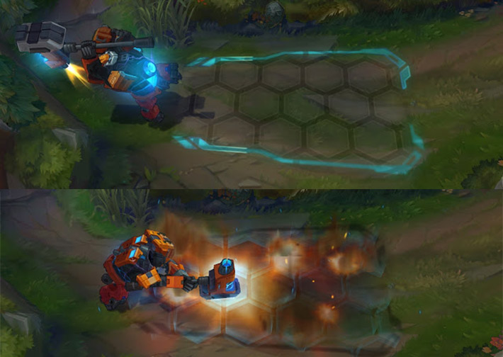 Mecha Zero Sion decimating splash ability